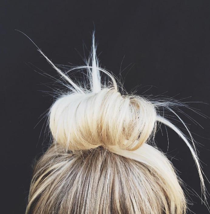 Пучок для коротких волос