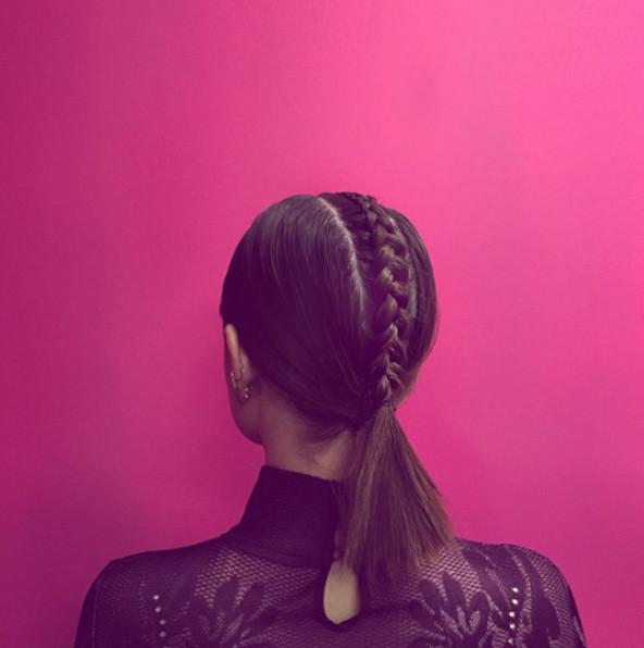 Косы - модная прическа для коротких волос