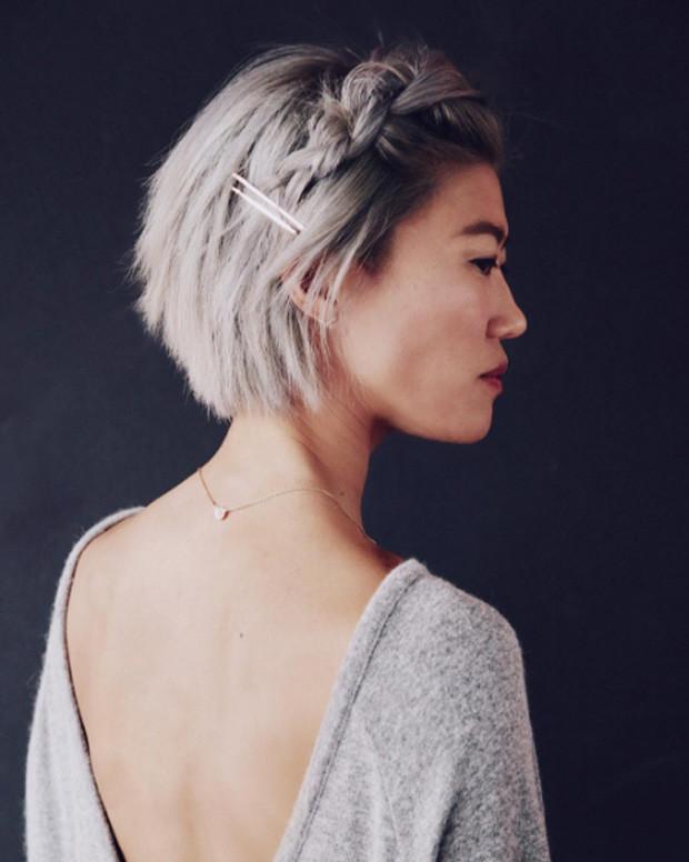 Косы - красивые прически на короткие волосы