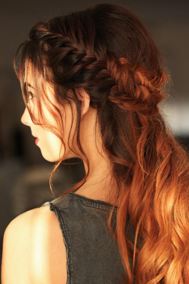 Прически на длинные волосы коса на затылке