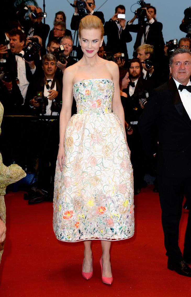 Николь Кидман в нежном платье Канны