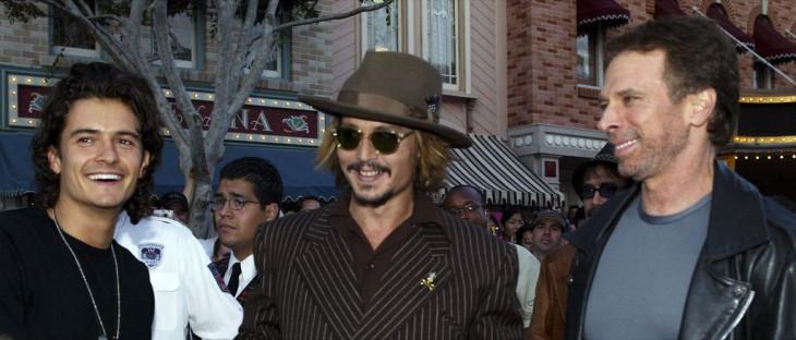 Джонни Депп и Орландо Блум на премьере Пираты Карибского моря 2003