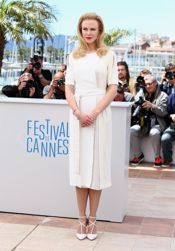 Николь Кидман в белом платье Каннский кинофестиваль