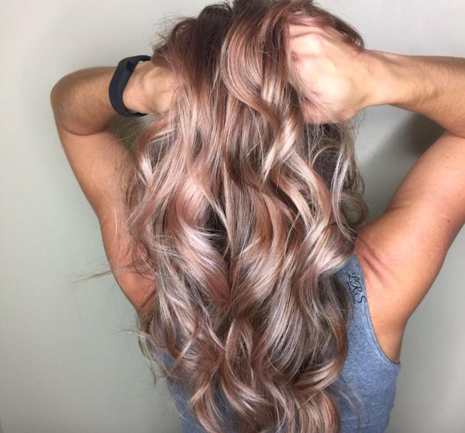 розово-золотые волосы