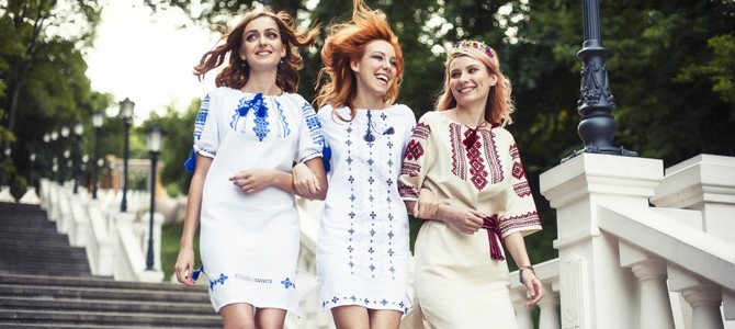 Девушки Вышиванка украинская