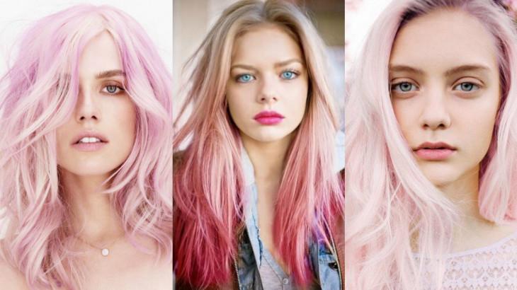 Окрашивание в розовый цвет волос