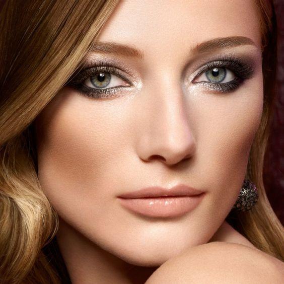 Макияж для блондинок с серыми глазами