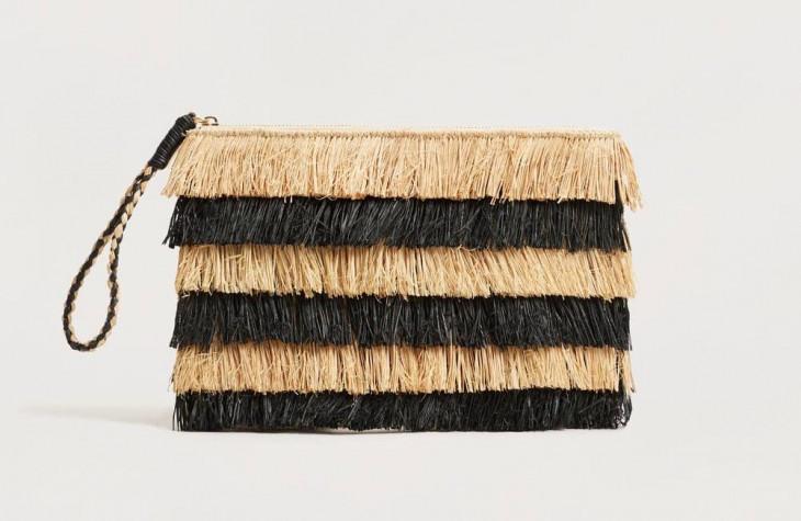 Сумка-клатч плетеная