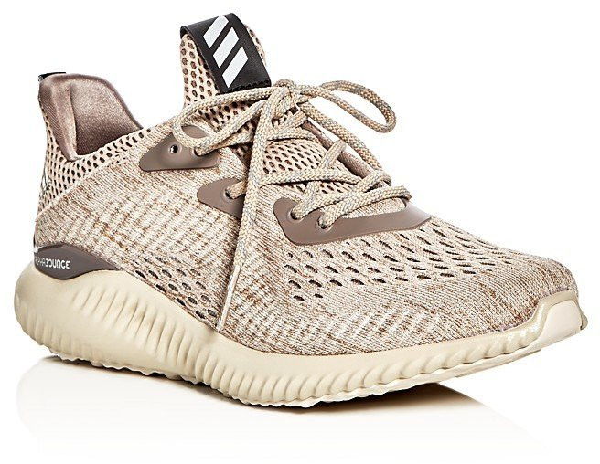 Золотые кроссовки Adidas Alphabounce Engineered Mesh Lace-Up Sneaker