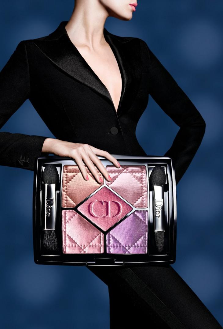 Палетка розовых теней с мерцанием Christian Dior