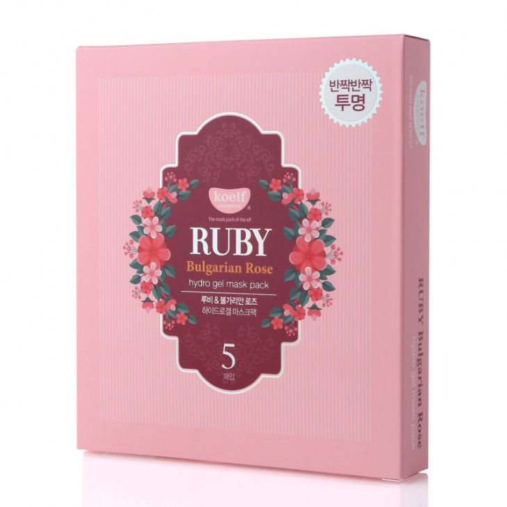 Гидрогелевая маска Koelf Ruby Bulgarian Rose hydro gel mask pack