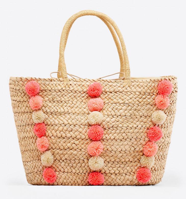 Плетеная яркая сумка