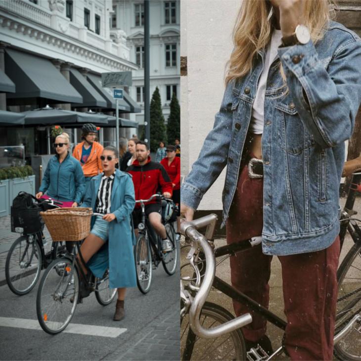 street style В чем кататься на велосипеде