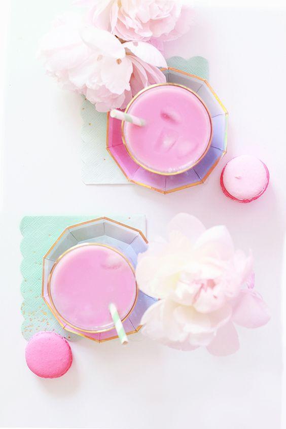 Розовый кофе