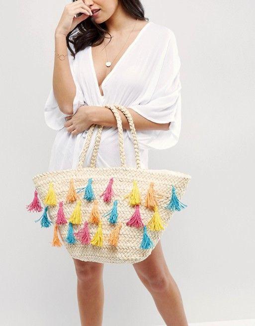 Вместительная плетеная сумка