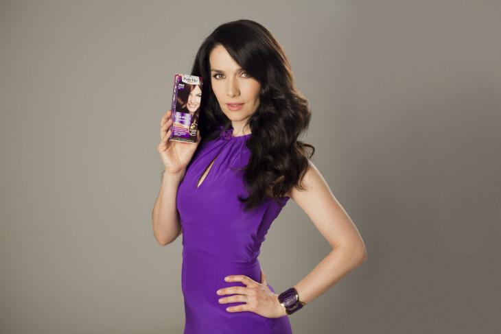 Наталия Орейро рекламирует краску для волос
