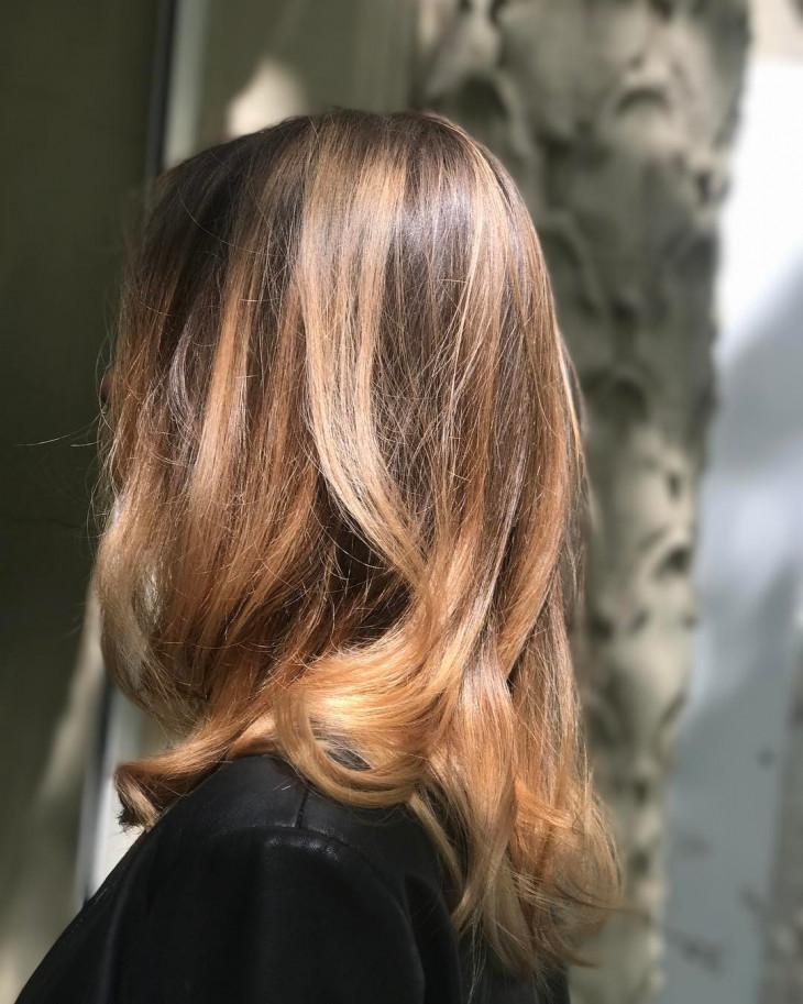 модные окрашивания волос - контуринг