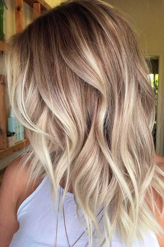 покраска волос на лето - балаяж