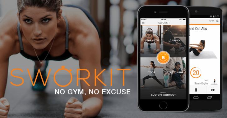 Приложения для фитнеса Sworkit