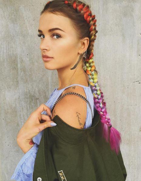 Разноцветные косы