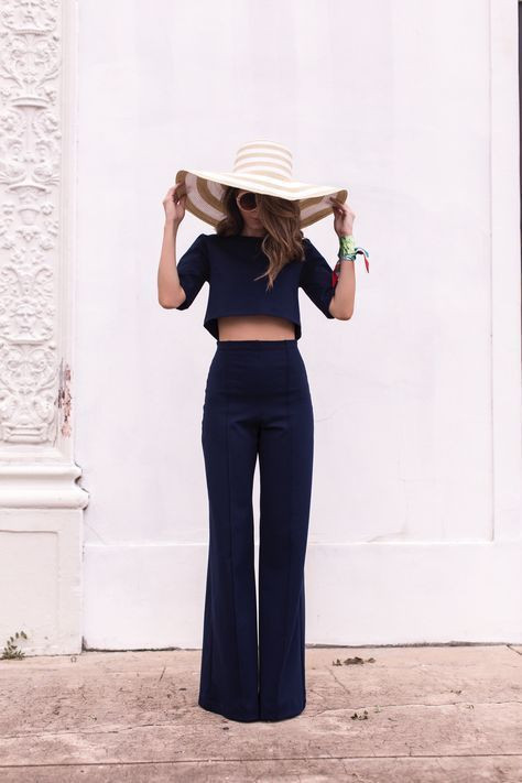 Модная соломенная шляпа - с чем носить
