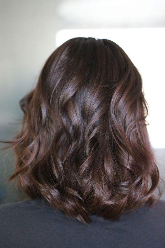 какой цвет волос в моде - каштановый цвет волос