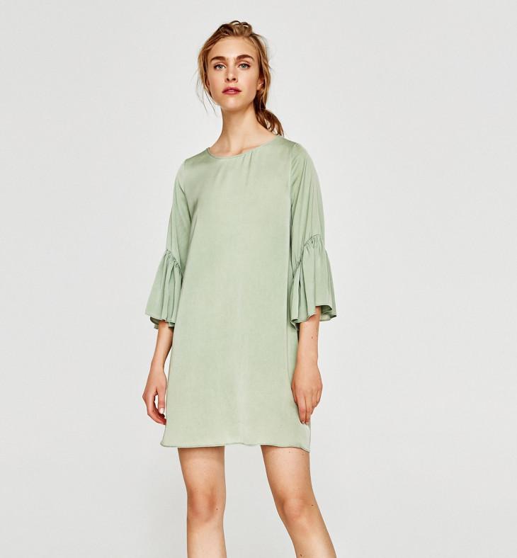 Летнее платье с воланами от Zara
