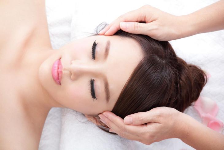Японский массаж лица техника