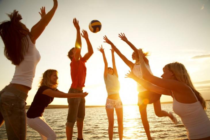 Пляжный волейболл для похудения