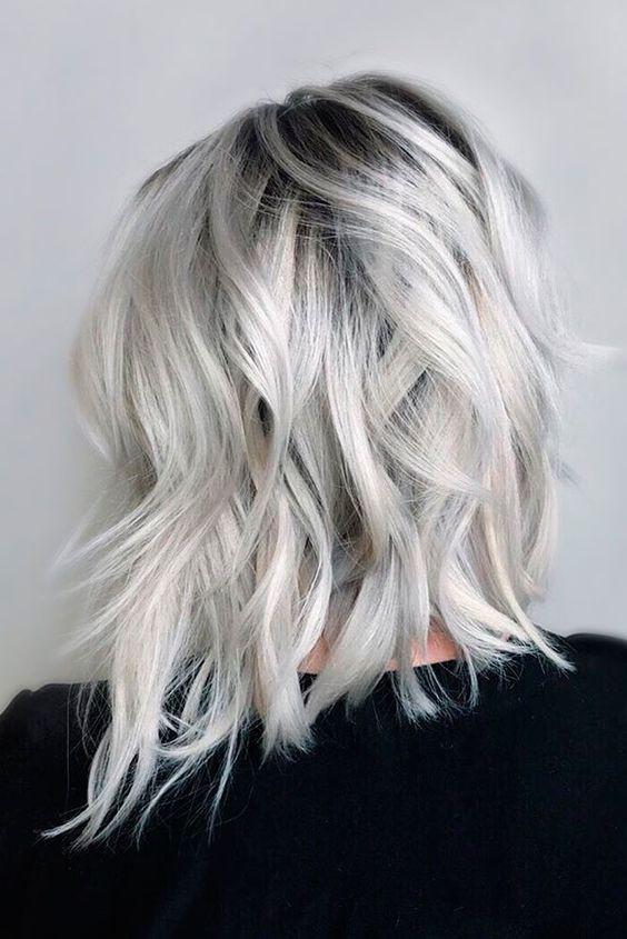 модный цвет волос 2017 - платиновый блонд