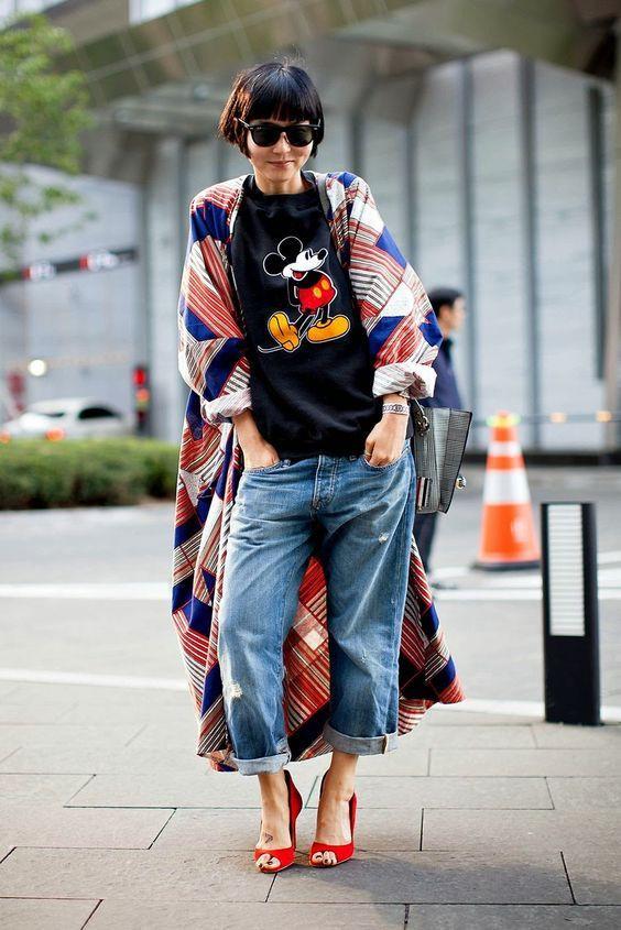 Кимоно и джинсы