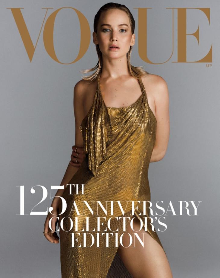 Дженнифер Лоуренс на обложке Vogue