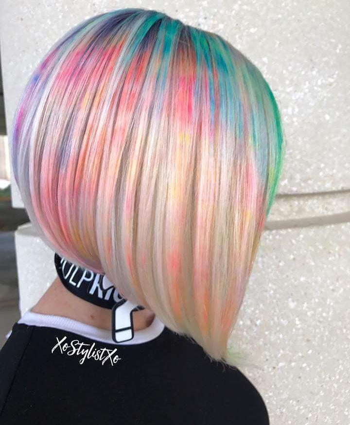Мраморирование волос на короткие волосы фото