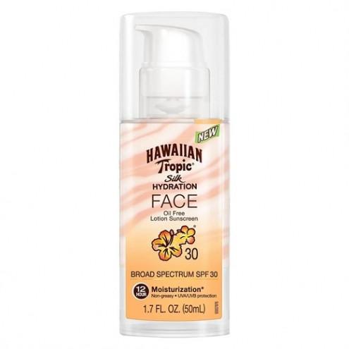 Солнцезащитный крем для лица SPF 30 Hawaiian Tropic Silk Hydration Face Oil Free Lotion Sunscreen
