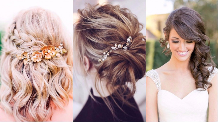 Свадебные прически с собранными волосами на средние волосы