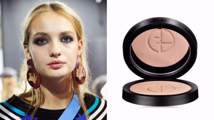 макияж с показа Emporio Armaniвесна-лето2018