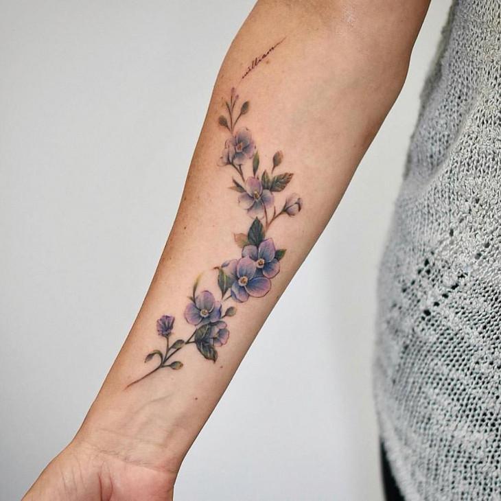 лаванда татуировка