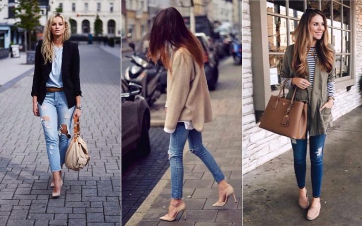 fbf8c1809 С чем носить бежевые туфли: 5 стильных идей