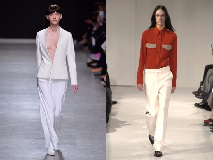 белые брюки на осень