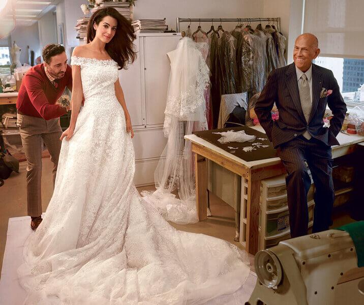 Амаль Клуни свадебное платье