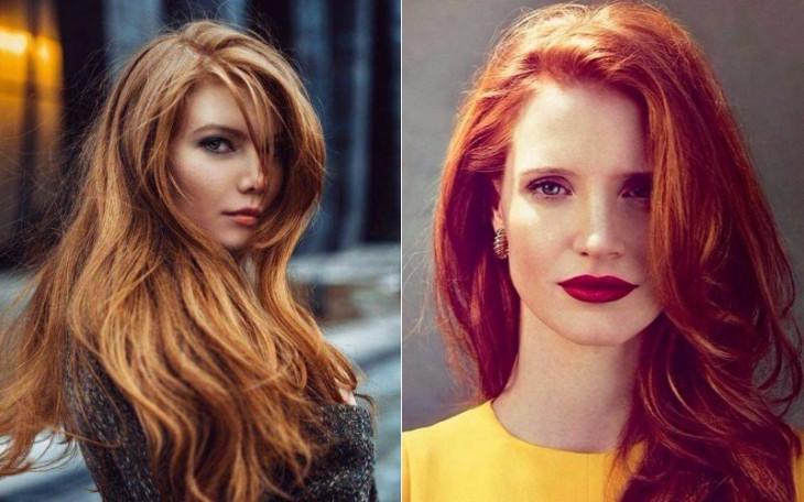 какой макияж для рыжих волос