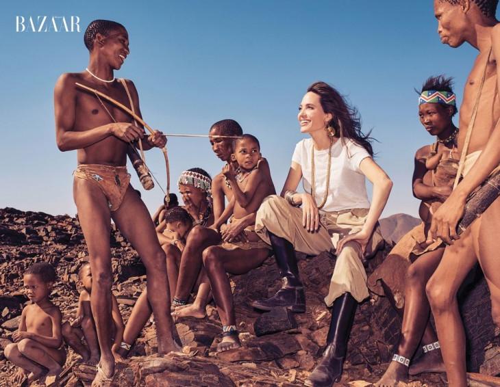 Анджелина Джоли фотосессия в Африке