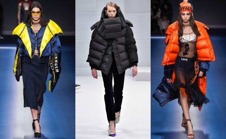 какие пуховики в моде зимой 2018
