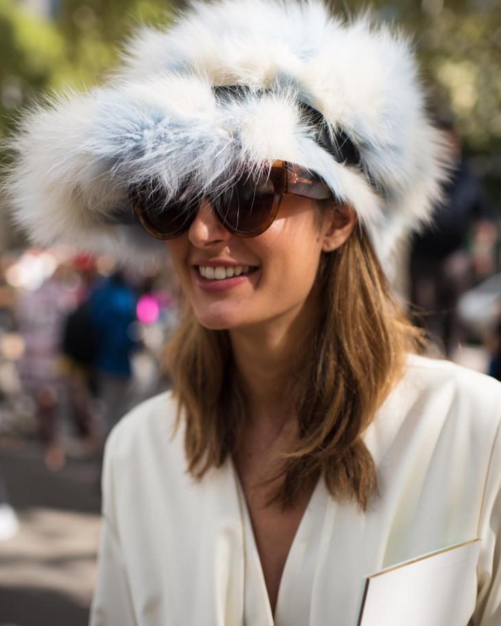 меховая шапка осень 2017