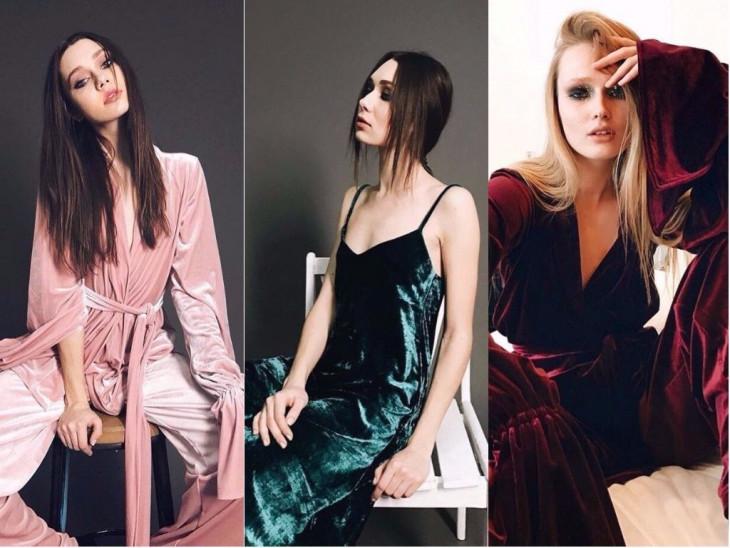 Велюр модный тренд осени 2017