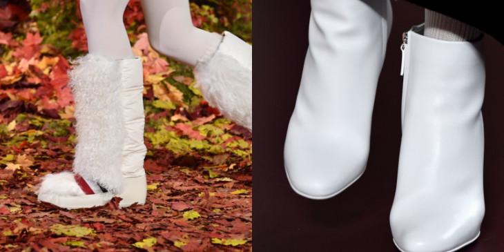 Белая обувь зима 2018