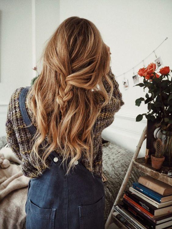 простые прически коса