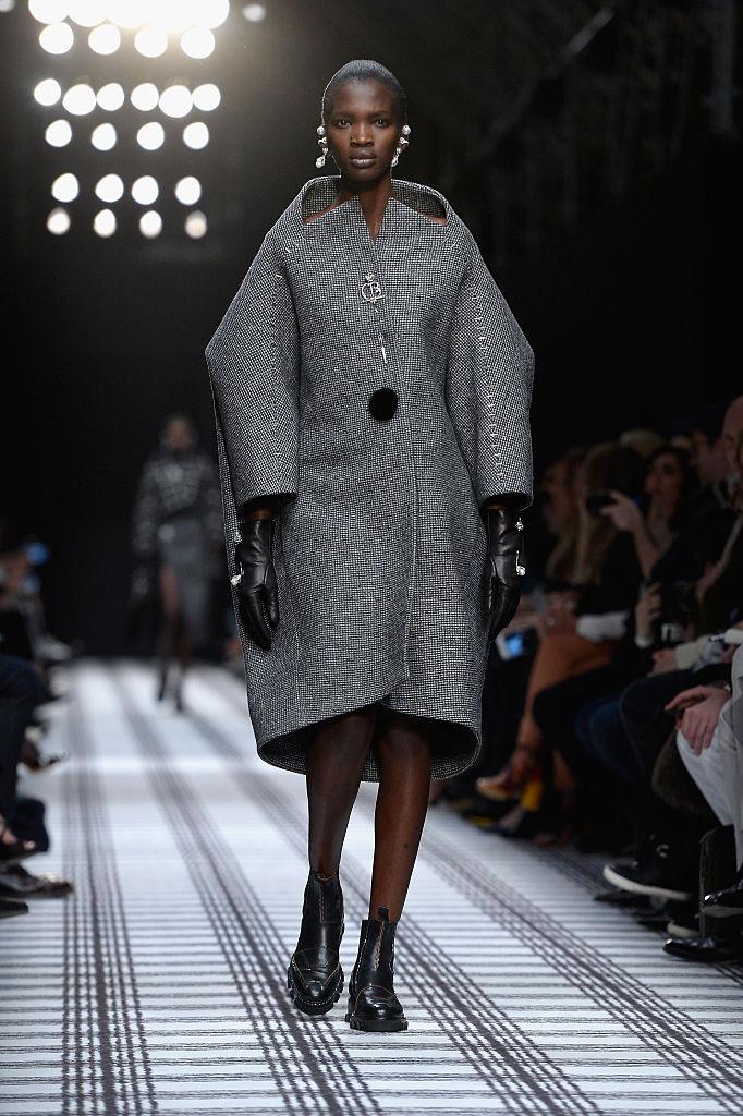 пальто кокон на зиму