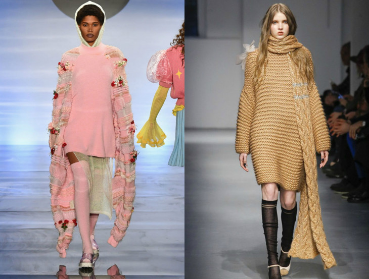 вязаные платья 2018