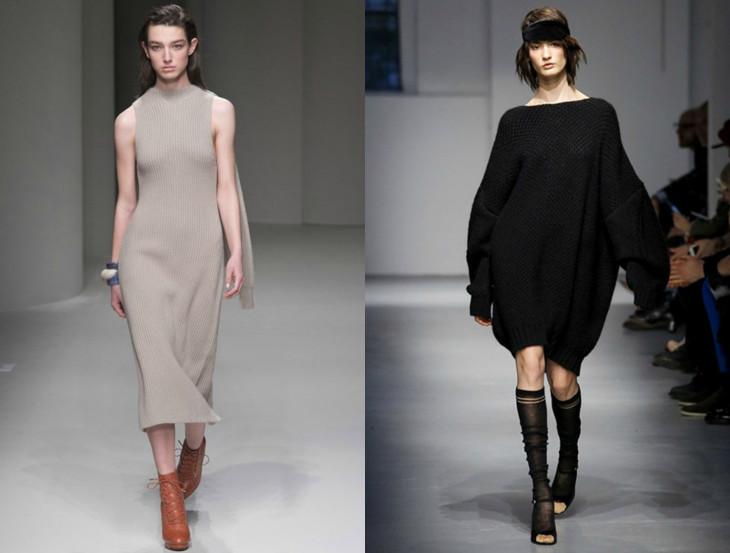 модные вязаные платья 2018 2